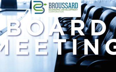 Board Meetings – Broussard Economic Development Corporation